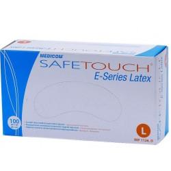 Перчатки латексные SafeTouch опудренные.  Смотровые.
